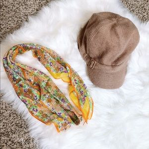 VINTAGE Light Brown Wool Berret Nine West Hat